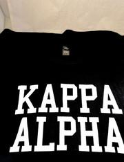 Kappa Alpha Fraternity Long Sleeve Shirt- Black
