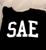Sigma Alpha Epsilon SAE Fraternity Long Sleeve Shirt- Black