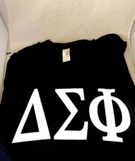 Delta Sigma Phi Fraternity Long Sleeve Shirt- Black