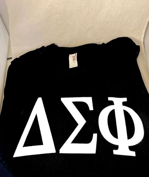 Delta Sigma Phi Fraternity Long Sleeve Shirt- Black