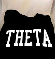 Kappa Alpha Theta Sorority Long Sleeve Shirt- Black
