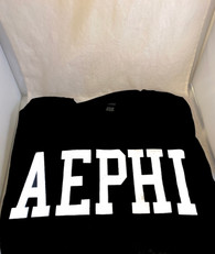 Alpha Epsilon Phi AEPHI Sorority Long Sleeve Shirt- Black