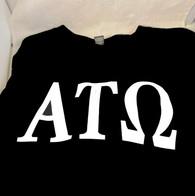 Alpha Tau Omega Fraternity Long Sleeve Shirt- Black