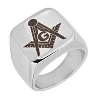 Mason Masonic Stainless Steel Ring-Symbol
