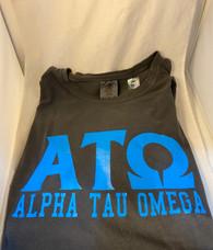 Alpha Tau Omega Fraternity Short Sleeve Shirt-Pepper