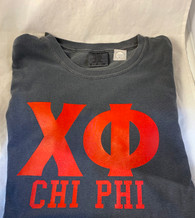 Chi Phi Fraternity Short Sleeve Shirt-Pepper
