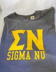 Sigma Nu Fraternity Short Sleeve Shirt-Pepper
