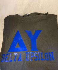 Delta Upsilon Fraternity Short Sleeve Shirt-Pepper