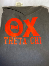 Theta Chi Fraternity Short Sleeve Shirt-Pepper