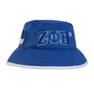 Zeta Phi Beta Sorority Bucket Hat-Blue/White- Style 2