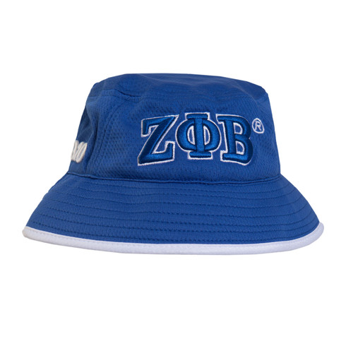 Zeta Phi Beta Sorority Bucket Hat-Blue/White- Style 2