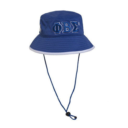 Phi Beta Sigma Fraternity Bucket Hat-Blue- Style 2