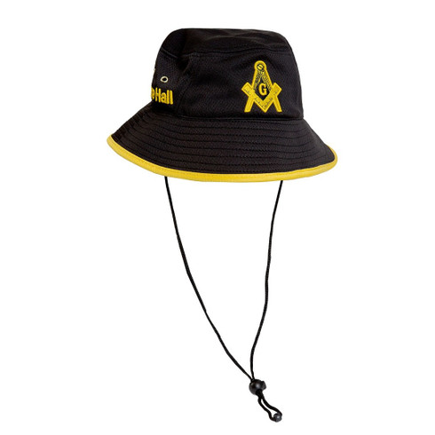 Prince Hall Bucket Hat-Black/Gold- Style 2