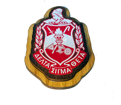 Delta Sigma Theta Sorority Raised Wood Crest