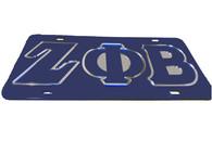 Zeta Phi Beta Sorority License Plate-Blue