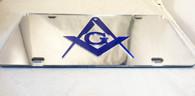 Mason Silver License Plate with Blue Symbol