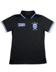 Zeta Phi Beta Sorority Polo Shirt-Black