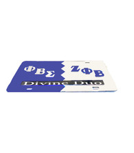 Zeta Phi Beta/Phi Beta Sigma Split License Plate- Divine Duo