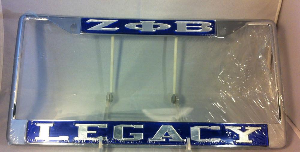 Zeta Phi Beta Sorority Legacy License Plate Frame