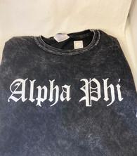 Alpha Phi Sorority Mineral Wash Shirt-Style 2