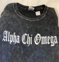 Alpha Chi Omega Sorority Mineral Wash Shirt-Style 2