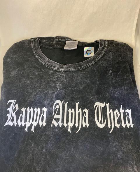 Kappa Alpha Theta Sorority Mineral Wash Shirt-Style 2