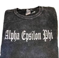 Alpha Epsilon Phi AEPHI Sorority Mineral Wash Shirt-Style 2