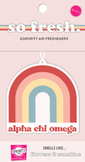 Alpha Chi Omega Sorority Rainbow Retro Air Freshener