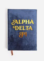 Alpha Delta Pi ADPI Sorority Velvet Notebook
