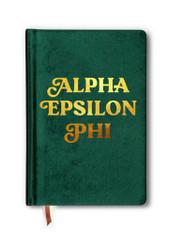 Alpha Epsilon Phi AEPHI Sorority Velvet Notebook