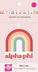 Alpha Phi Sorority Rainbow Retro Air Freshener