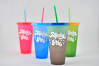 Alpha Phi Sorority Set of 4 Color Changing Cups