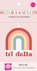 Delta Delta Delta Tri-Delta Sorority Rainbow Retro Air Freshener