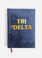 Delta Delta Delta Tri-Delta Sorority Velvet Notebook
