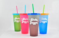 Delta Gamma Sorority Set of 4 Color Changing Cups