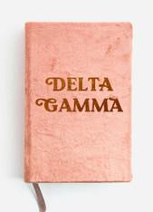 Delta Gamma Sorority Velvet Notebook