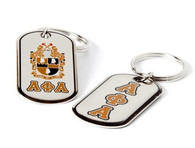 Alpha Phi Alpha Fraternity Dog Tag Key Chain