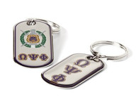 Omega Psi Phi Fraternity Dog Tag Key Chain