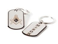 Mason Masonic Dog Tag Key Chain