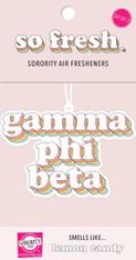 Gamma Phi Beta Sorority Rainbow Retro Air Freshener