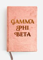Gamma Phi Beta Sorority Velvet Notebook