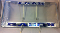 Mason Masonic F & AM Silver/ Blue License Plate Frame