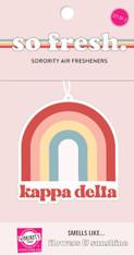 Kappa Delta Sorority Rainbow Retro Air Freshener