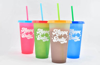 Kappa Delta Sorority Set of 4 Color Changing Cups