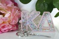 Kappa Delta Sorority Glitter Keychain
