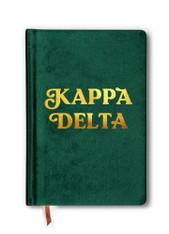 Kappa Delta Sorority Velvet Notebook