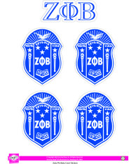 Zeta Phi Beta Sorority Crest Sticker Sheet