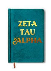 Zeta Tau Alpha ZTA Sorority Velvet Notebook