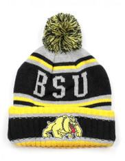 Bowie State University Pom Beanie- Gray