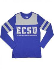 Elizabeth City State University Long Sleeve Shirt- Sequin